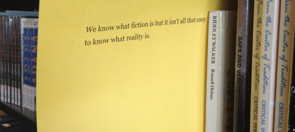 we know what fiction is...