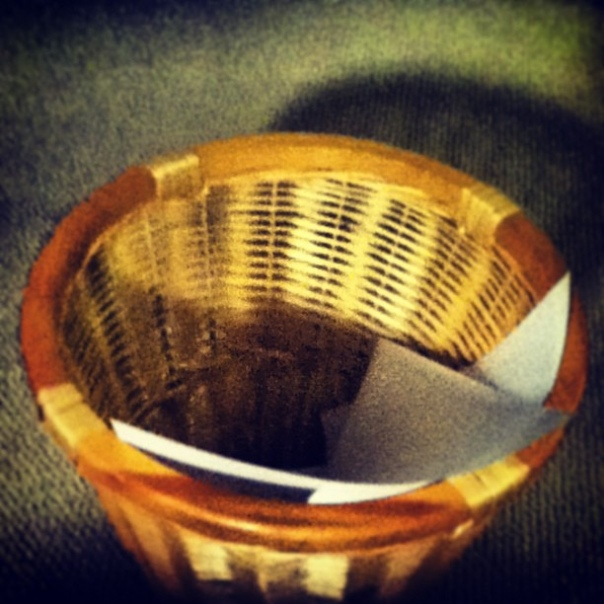 wastebasket by Wicker Paradise