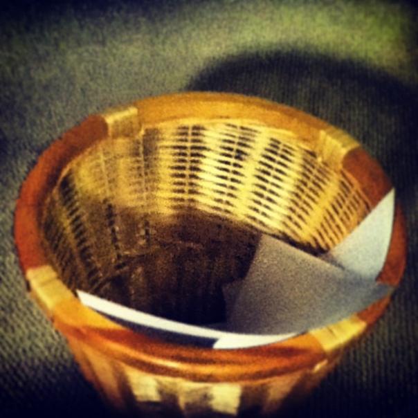 wastebasket by Wicker Paradise