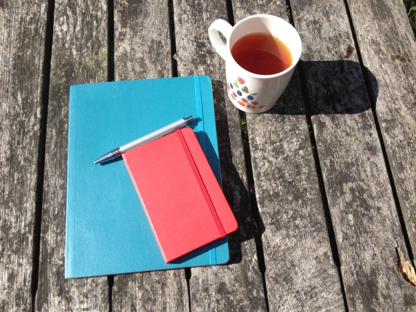 Notebooks and tea