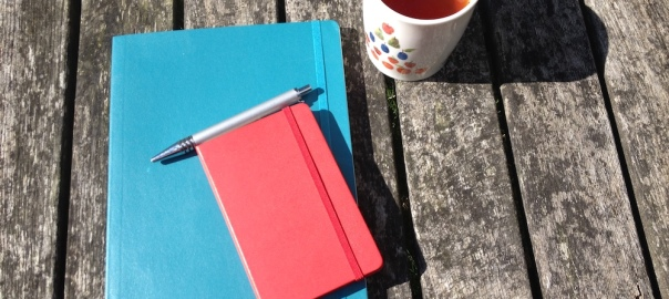 Notebooks and tea